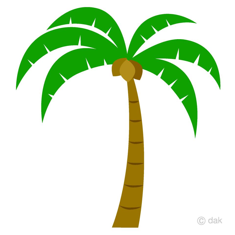 Simple Palm Tree Clipart Free Picture|Illustoon.