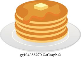 Pancakes Clip Art.