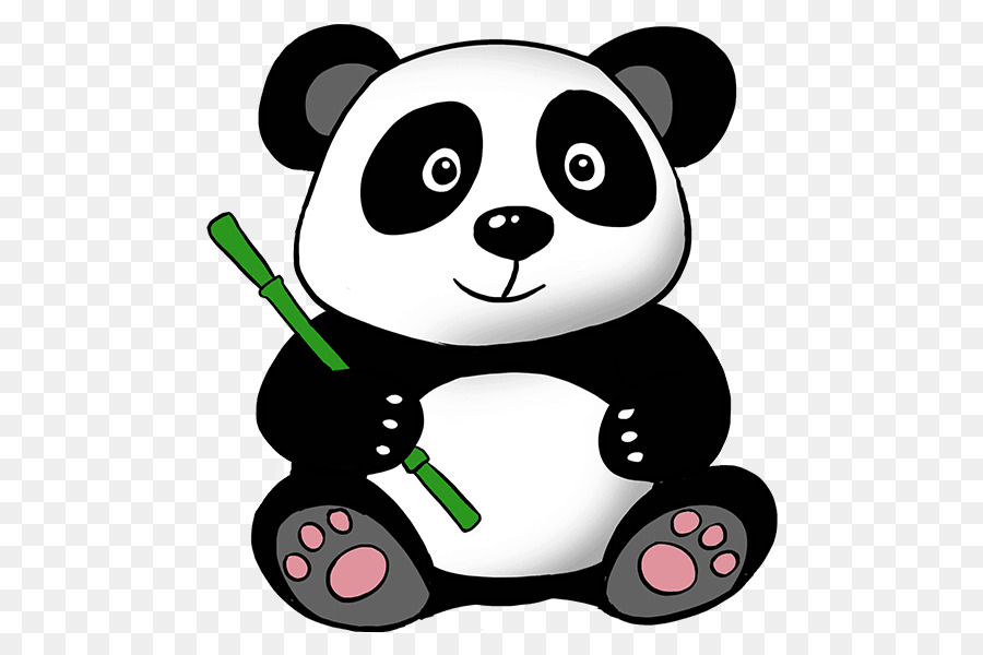 Giant Panda Bear Drawing Clip Art.
