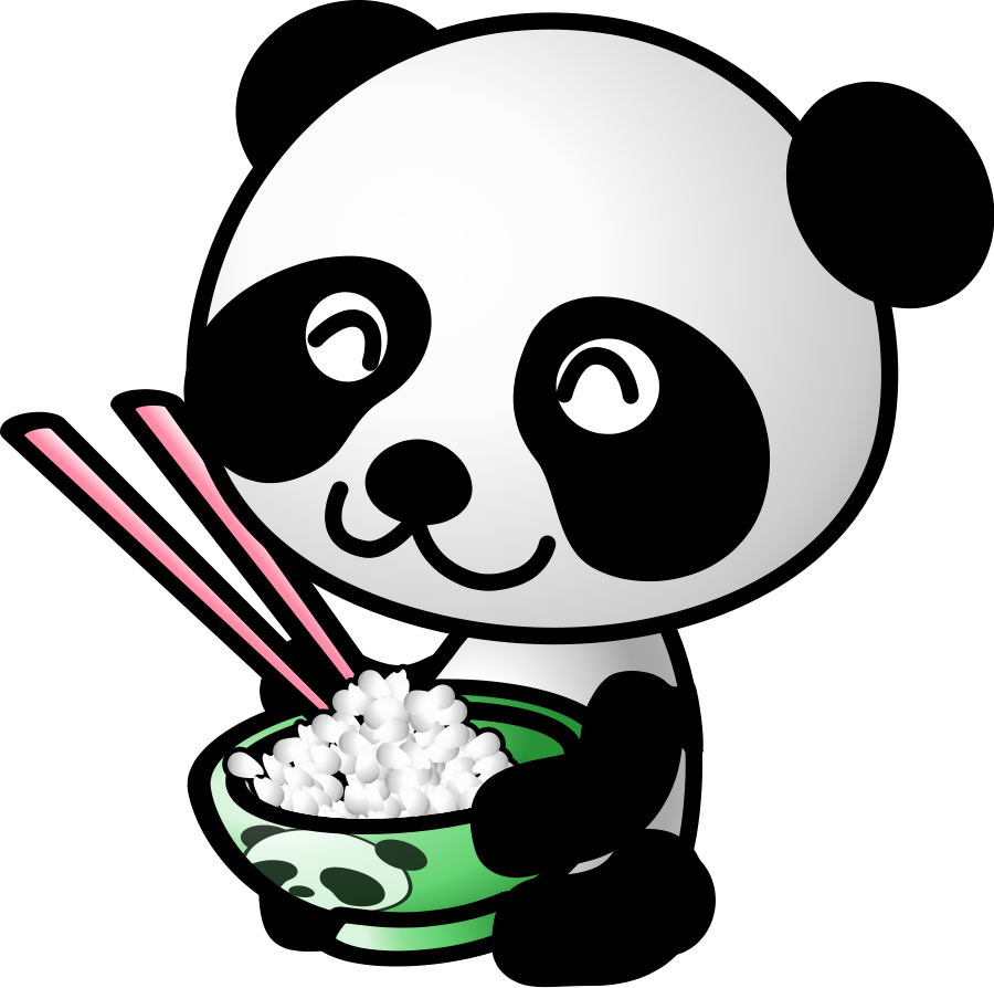 Panda Face Clipart Black And White.