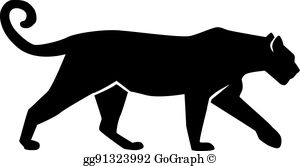 Panther Silhouette Clip Art.