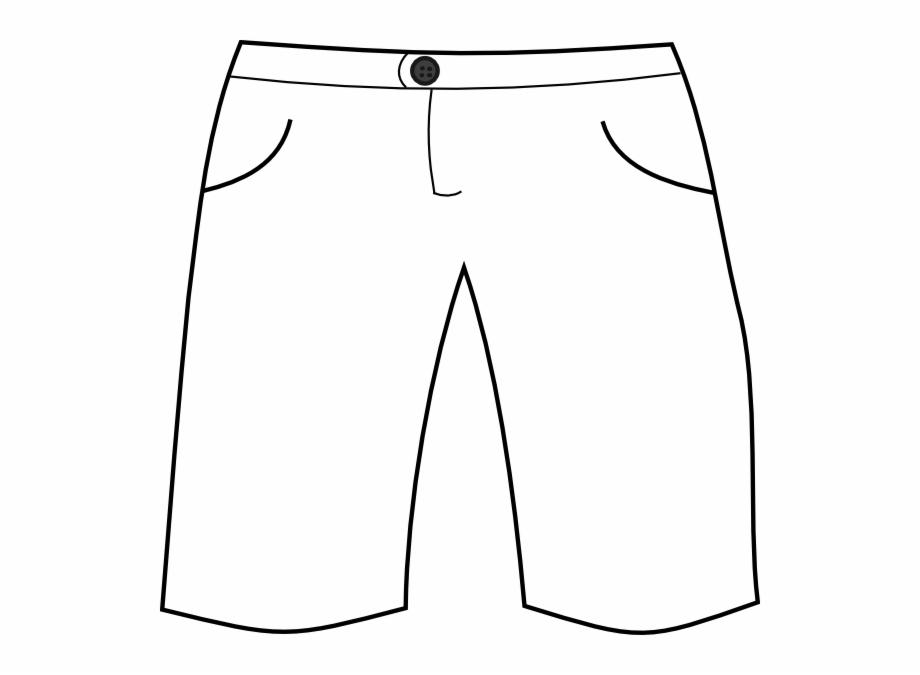 Clip Art Black And White Short Pants Clipart.