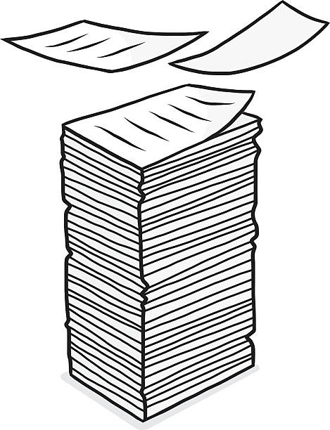 Best Paper Stack Illustrations, Royalty.