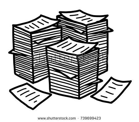 Clipart Paper Stack Papers.