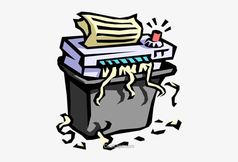 Office Paper Shredder Royalty Free Vector Clip Art.