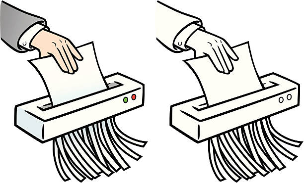 Best Paper Shredder Illustrations, Royalty.