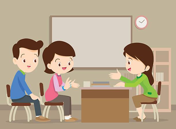 Best Parent Teacher Meeting Illustrations, Royalty.