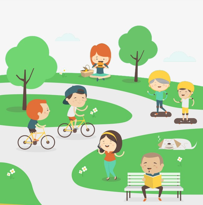 Play Park, Park, Greenery, Cartoon PNG Transparent Image and Clipart.