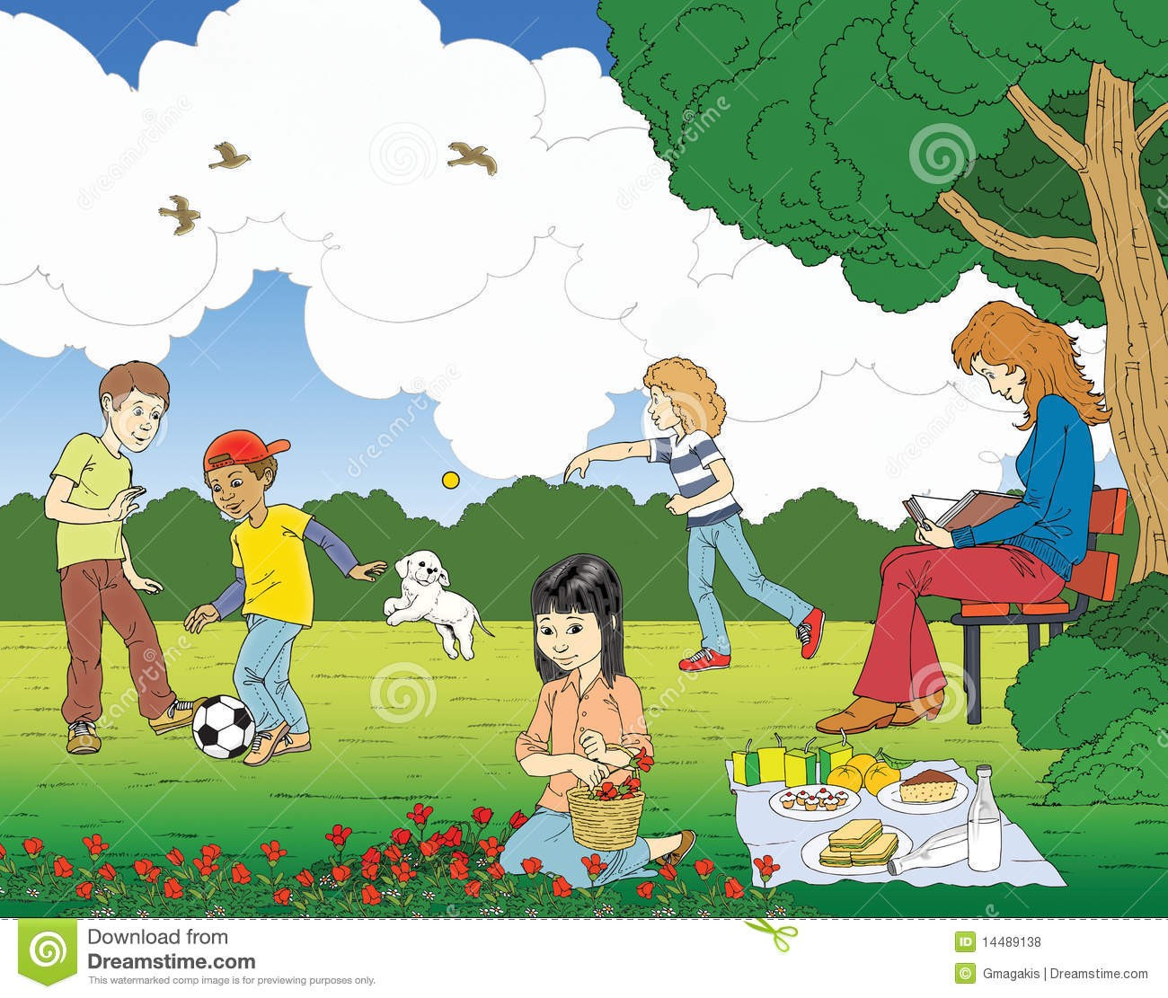 At Clipart Of Park Scene 1.