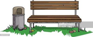 Park Bench stock vectors.