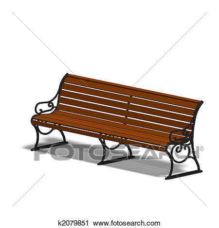 Park bench Clip Art.