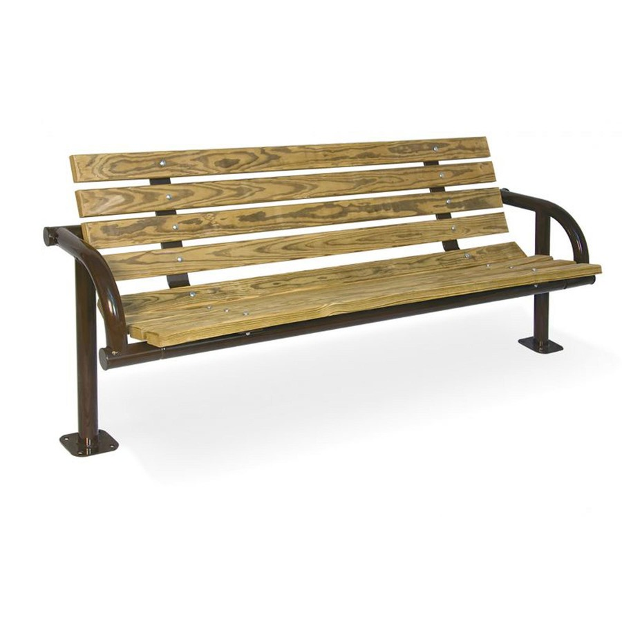Download recycled plastic single post park bench clipart Bench.
