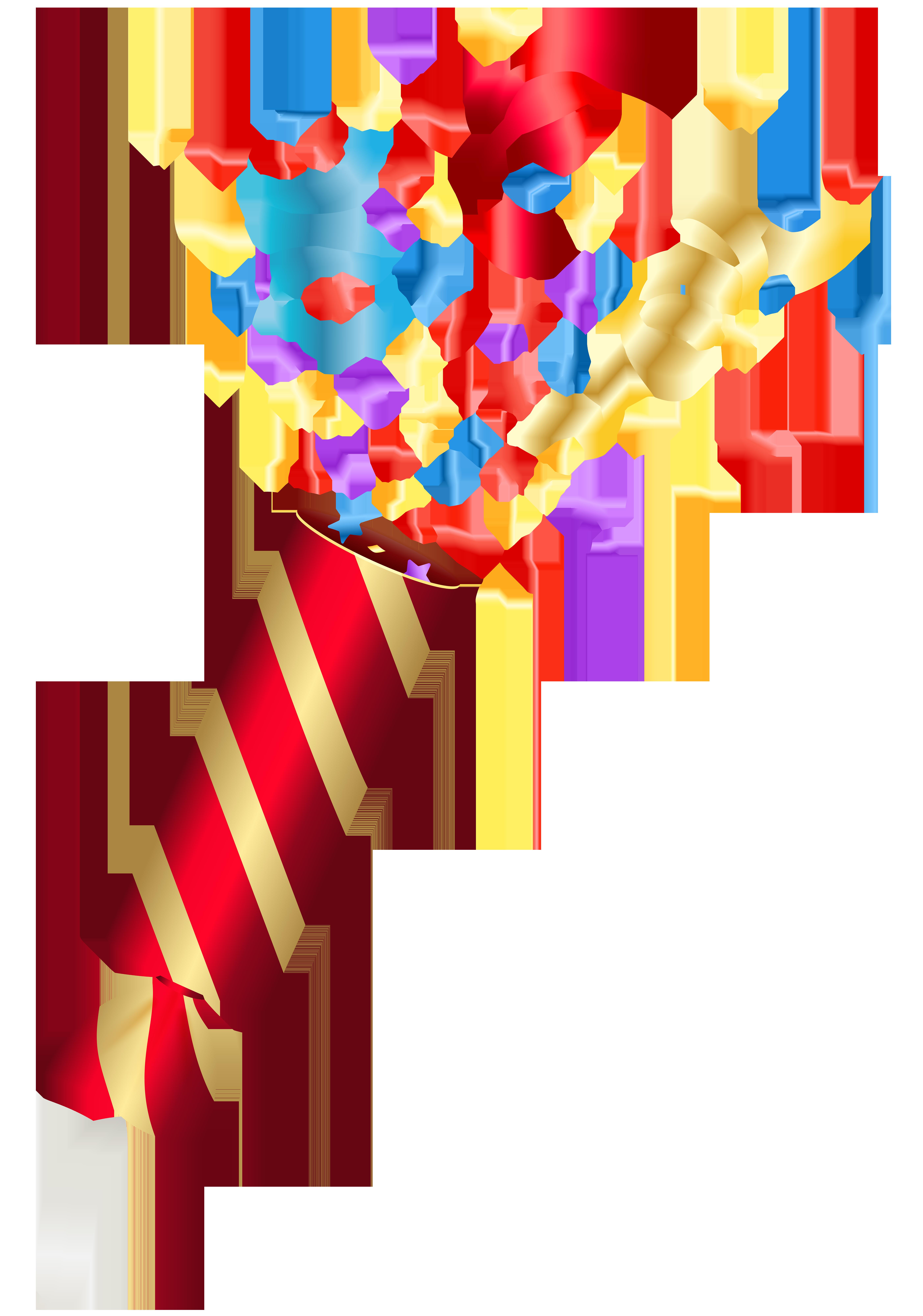 Party Confetti PNG Clip Art Image.