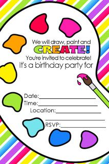 FREE Artist Party Printables.