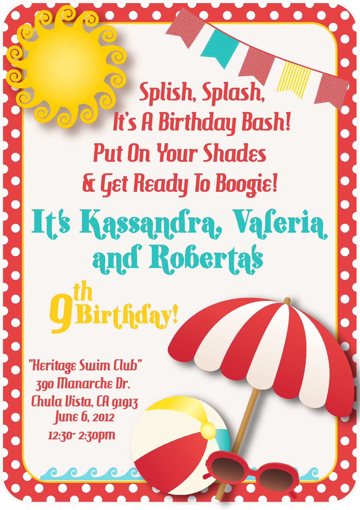 Download a free printable party invitation template with a clipart.