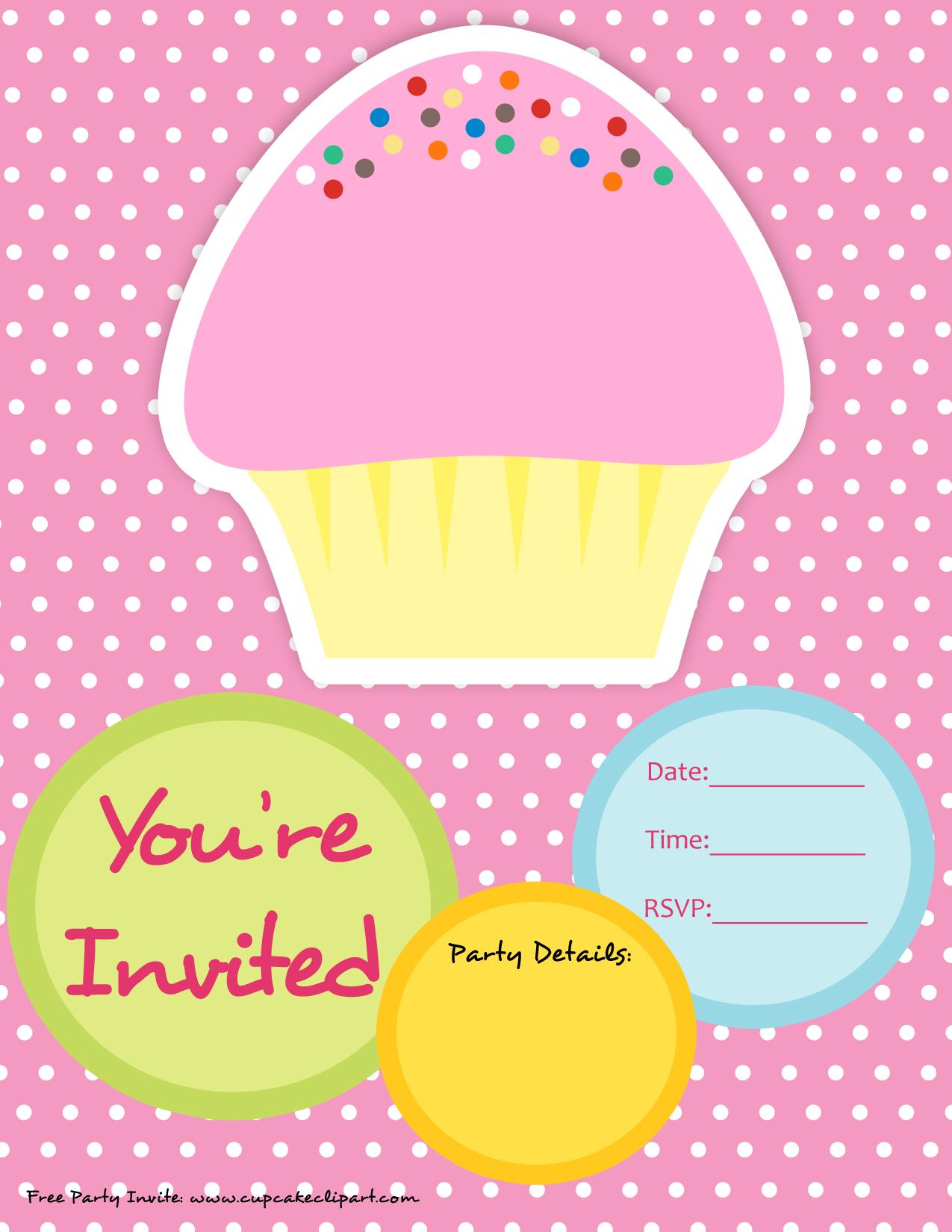 Free Cupcake Party Invite.