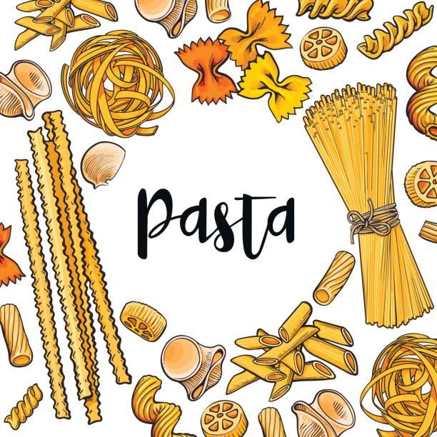 Best Raw Pasta Illustrations, Royalty.