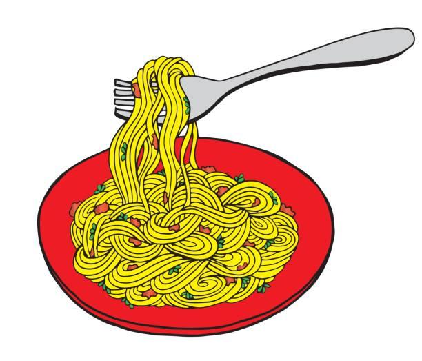 Best Spaghetti Dinner Illustrations, Royalty.