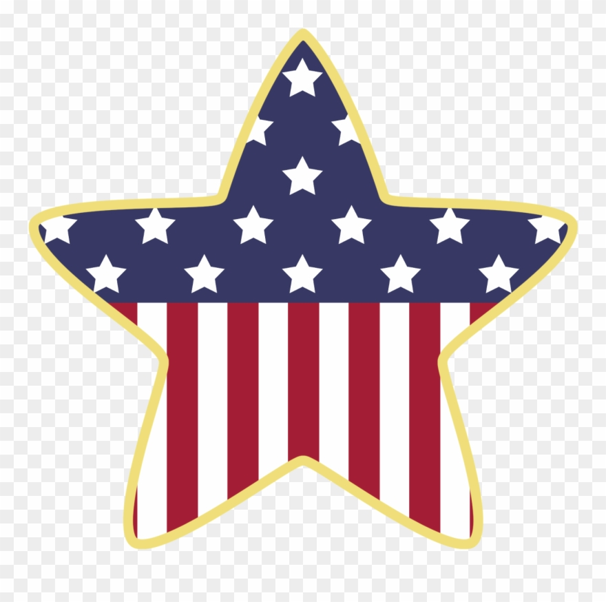 Abstract American Star And Flag Clipart.