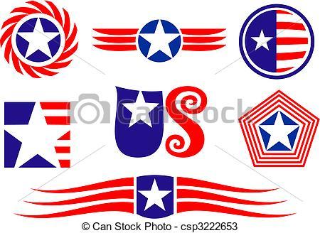 American patriotic symbols.
