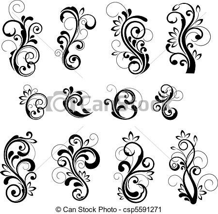patterns vector clip art.
