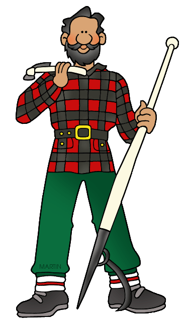 Occupations Clip Art by Phillip Martin, Paul Bunyan.
