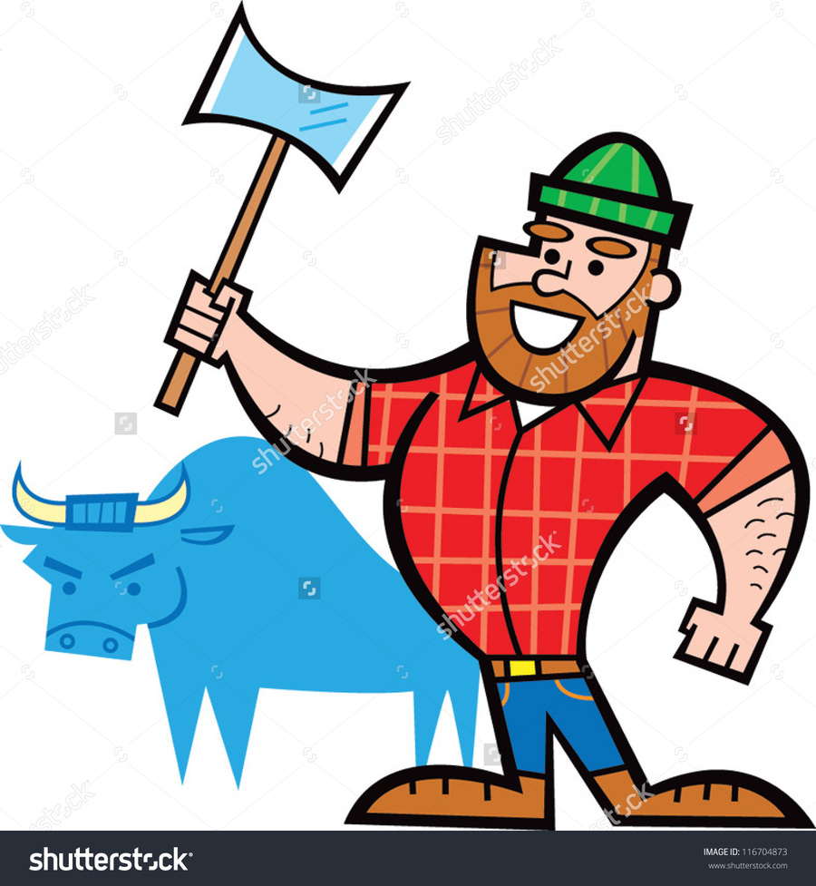Download easy to draw paul bunyan clipart Paul Bunyan & Babe the.