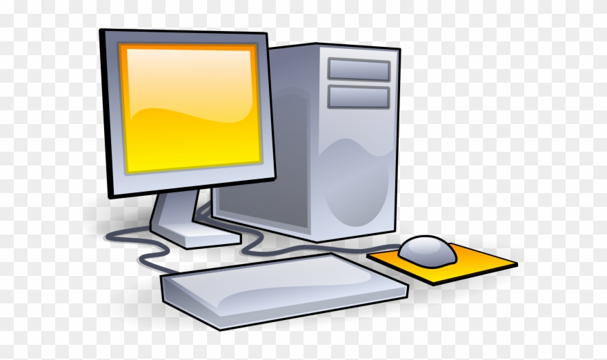 Computer Pc Clipart Game System.