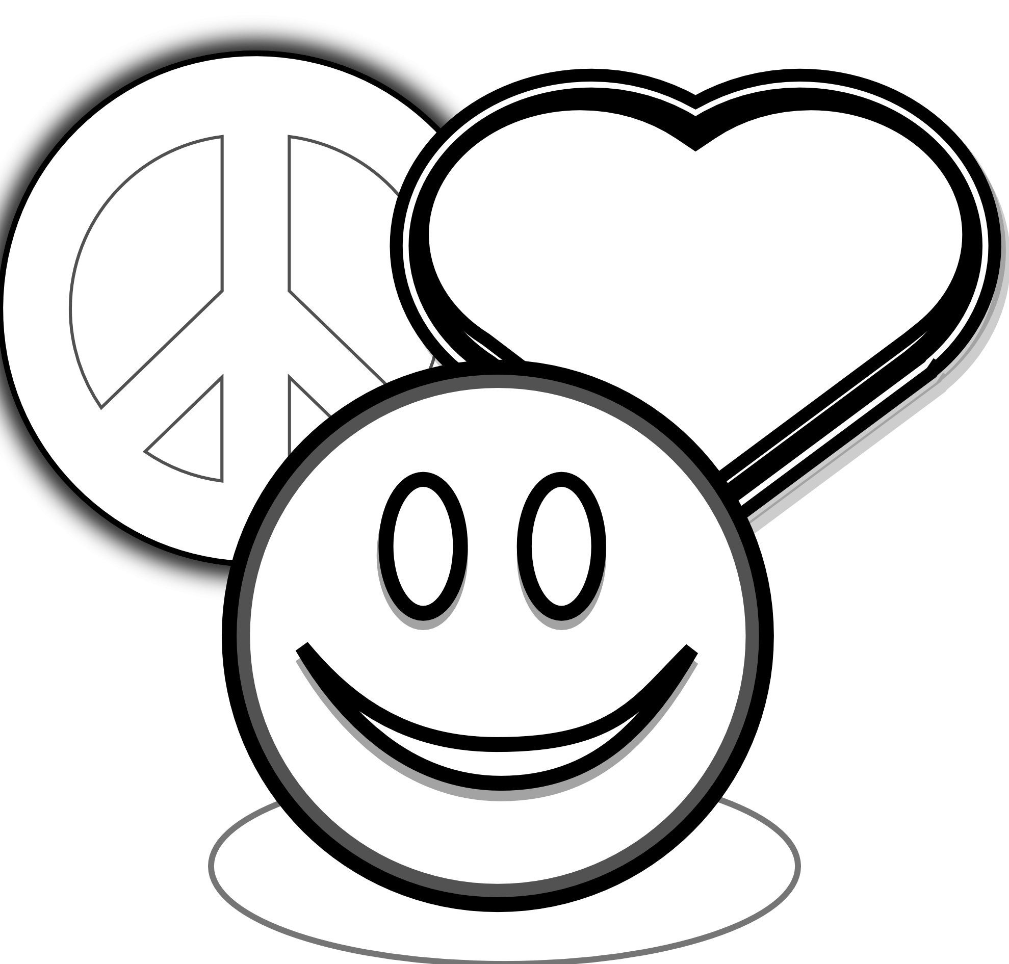 Coloring Pages Of Peace Signs And Hearts Clip Art Peace Love And.