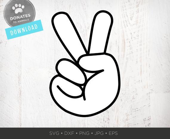 Peace Hand SVG.