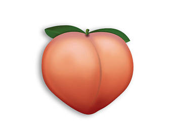 Peach clipart emoji pencil and in color peach.