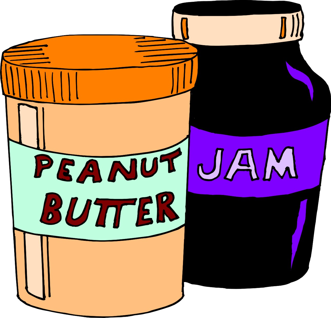 Peanut Butter Jelly Clip Art free image.