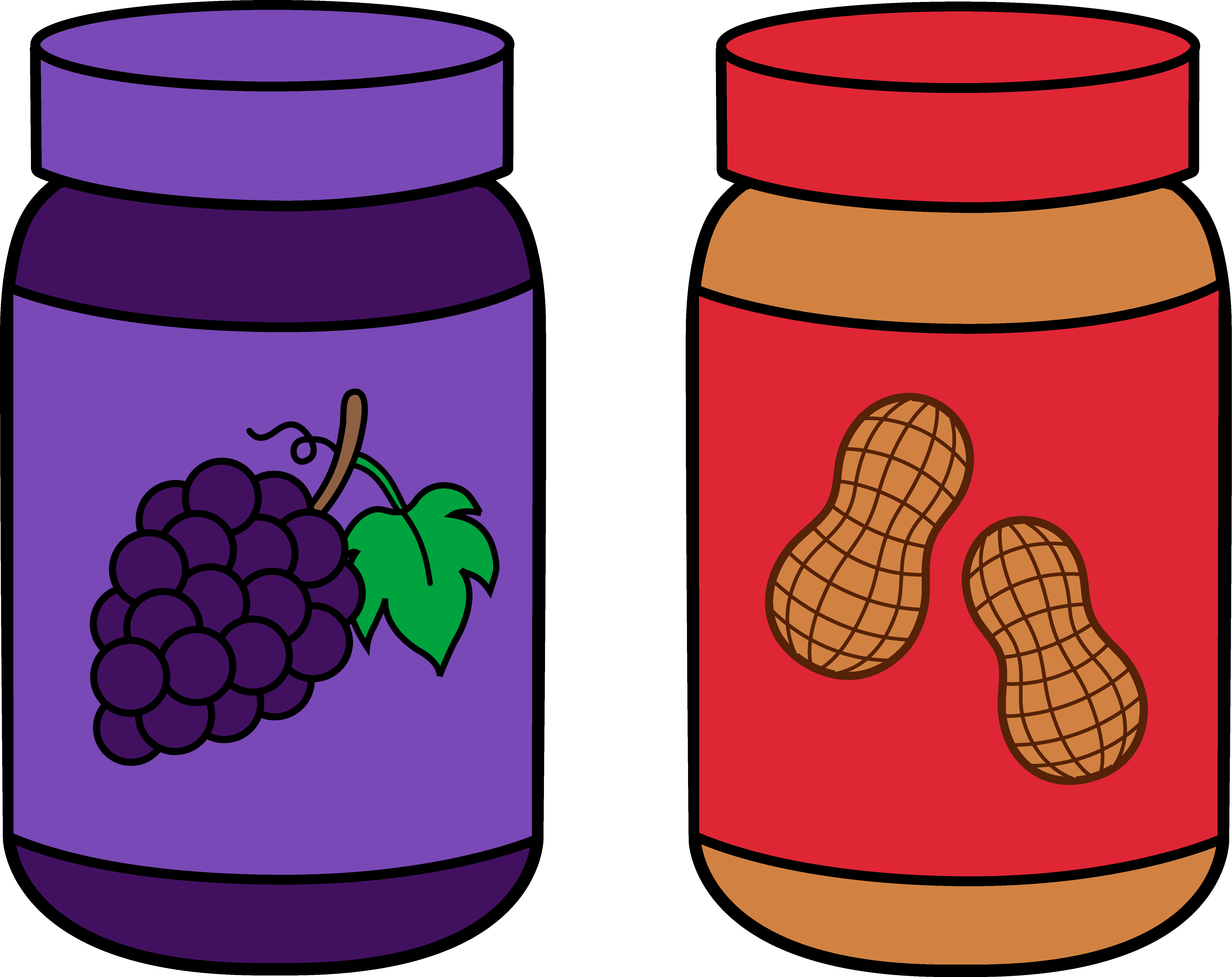 Jars Of Peanut Butter And Jelly Free clipart free image.