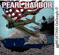 Pearl Harbor Attack Clip Art.