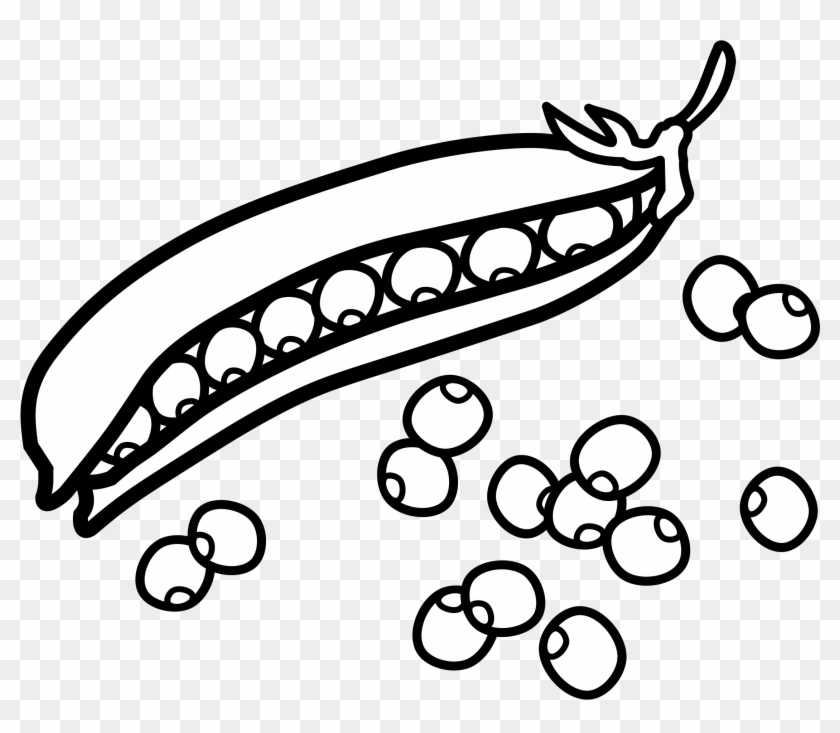 Download Free png Sweet Pea Clip Art Peas Black And White Free.