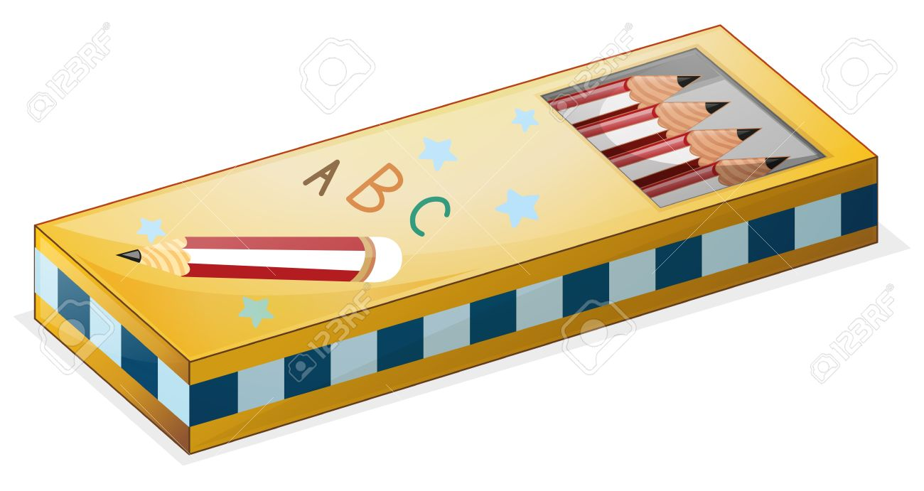 Illustration of a pencil case on a white background.