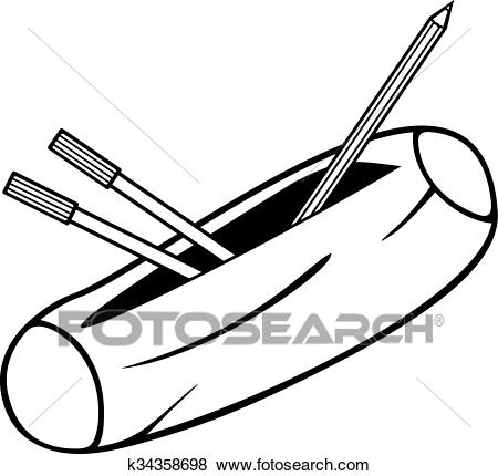 Pencil box (pencil case) Clip Art.