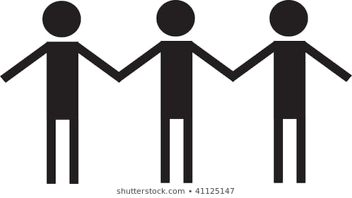 Clip Art Illustration Couple Holding Hands Stock Artistic People.