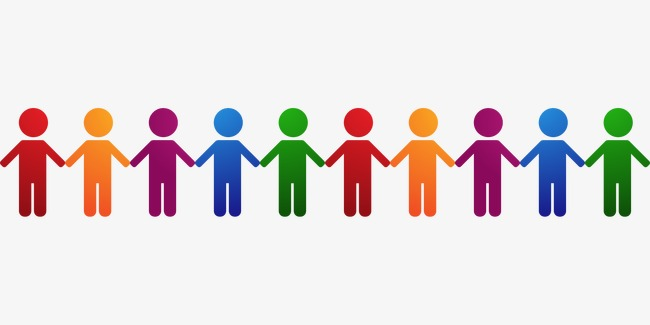 People Holding Hands In A Line Clipart & Free Clip Art Images #24814.
