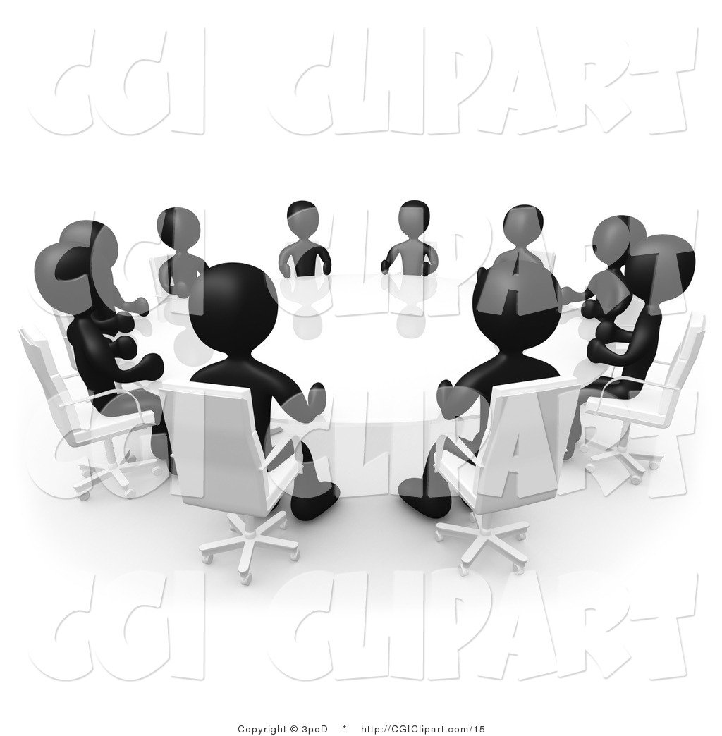 3 People Meeting Clipart.