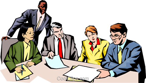 People meeting Royalty Free Vector Clip Art illustration.