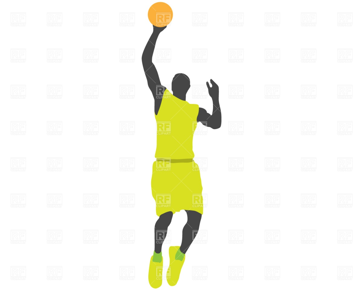 Basketball player jump Stock Vector Image.