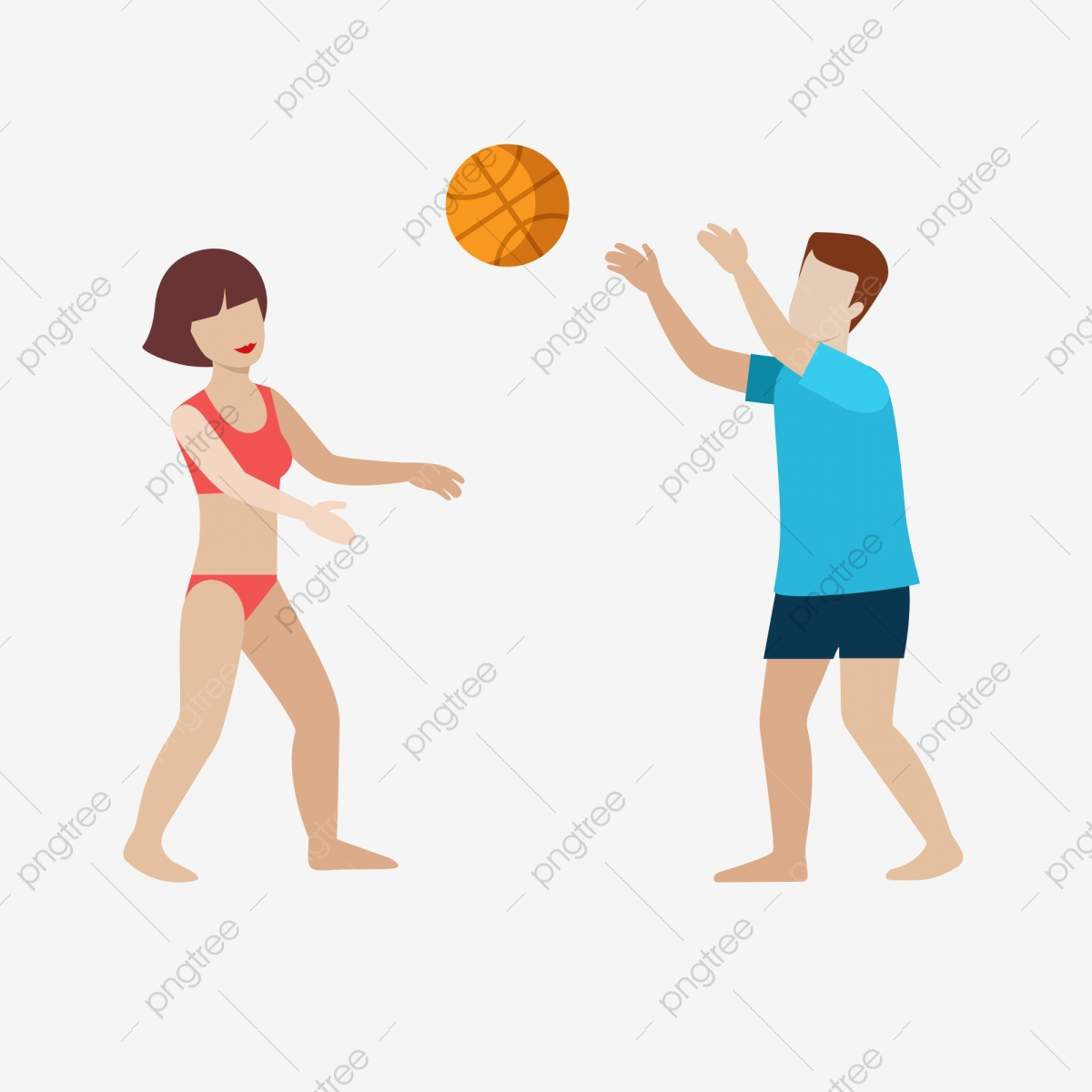 People Playing Basketball On The Beach, Beach, Play Basketball.