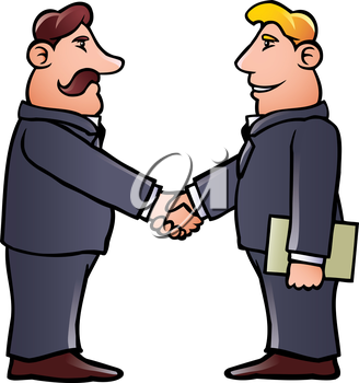 Royalty Free Clipart Image of People Shaking Hands.