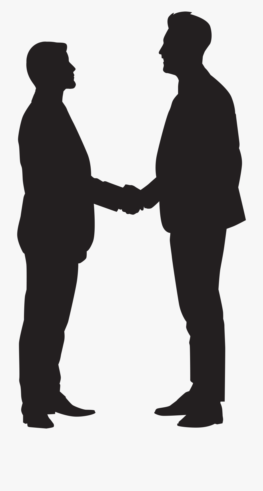 Silhouette Handshake Clip Art.