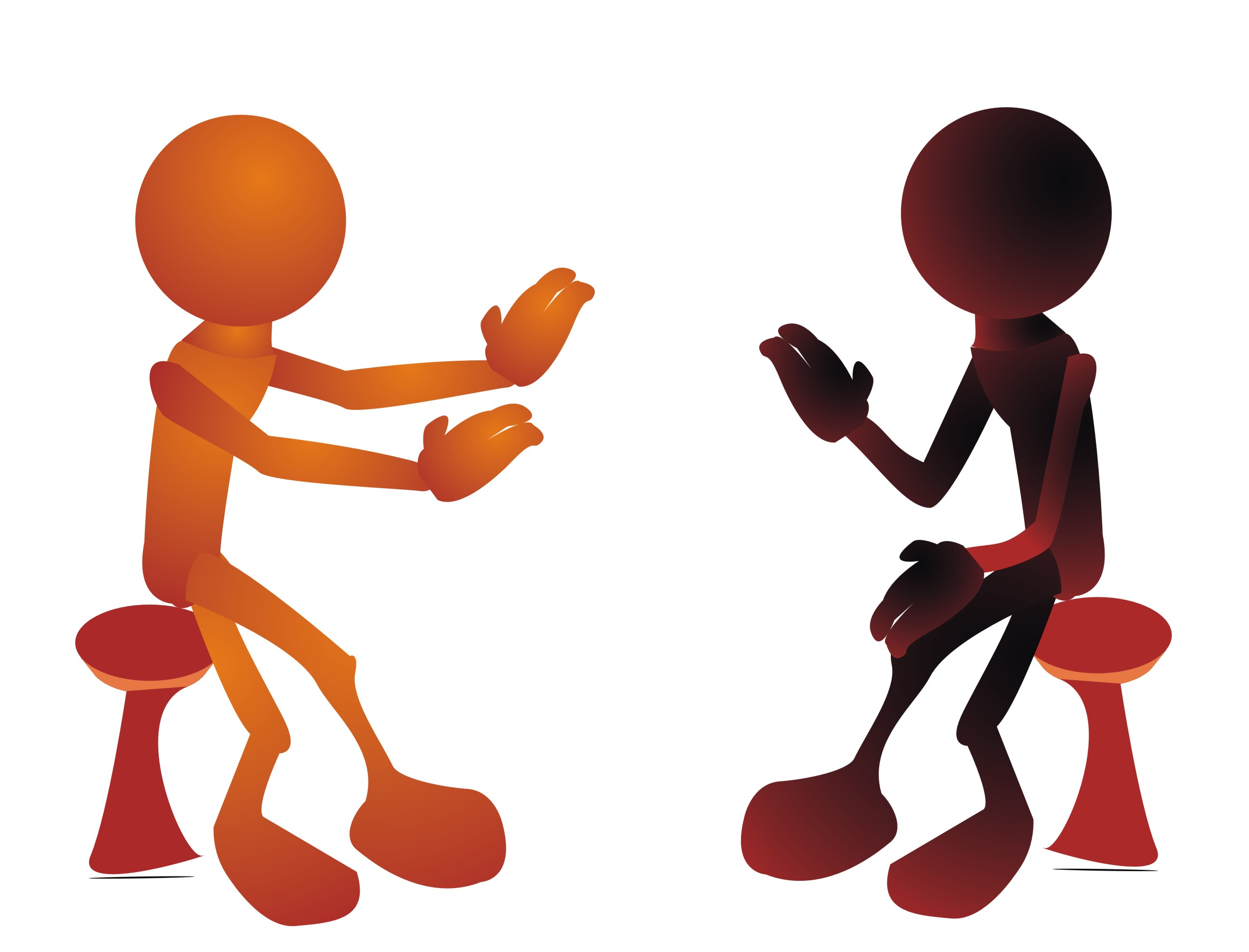 Clip Art People Talking To Each Other N8 free image.
