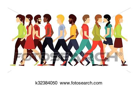 People walking design Clipart.