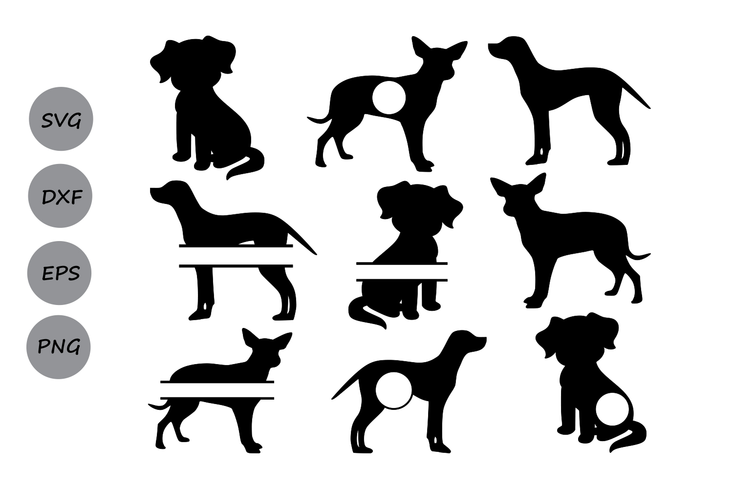 Dog SVG, dog monogram svg, Dog silhouette svg, Dog Clipart, Pet Svg, pets  silhouette, Cricut files, silhouette files, svg, dxf, eps, png..