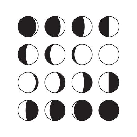 2,748 Moon Phases Stock Illustrations, Cliparts And Royalty Free.