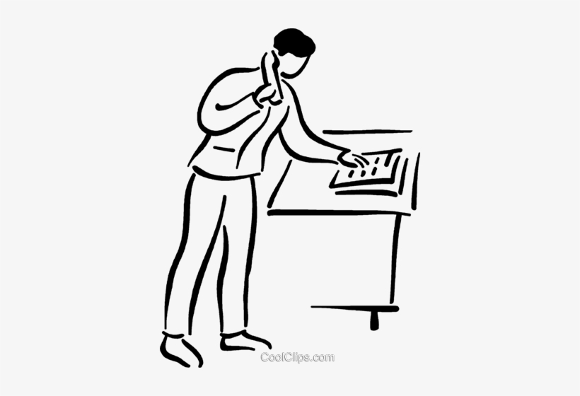 Man Making A Phone Call Royalty Free Vector Clip Art.